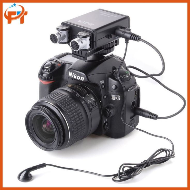 BOYA BY-SM80 Mini Stereo X/Y Condenser Microphone Mic  for Canon Nikon DSLR Camera Camcorder Audio Recorder