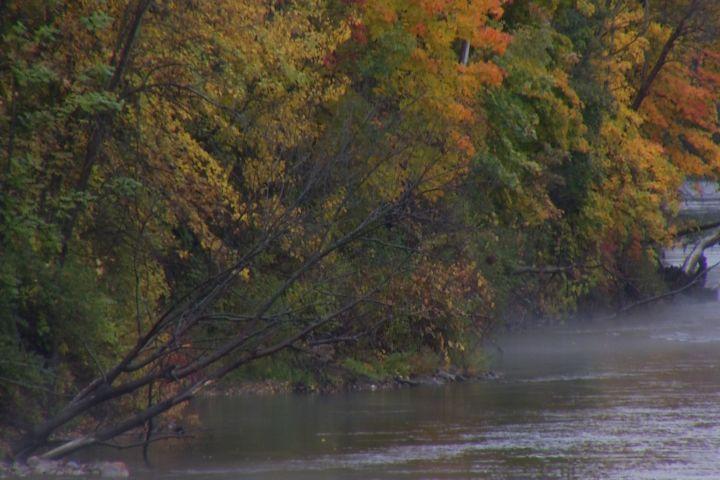 Fall at Big Rapids Riverwalk