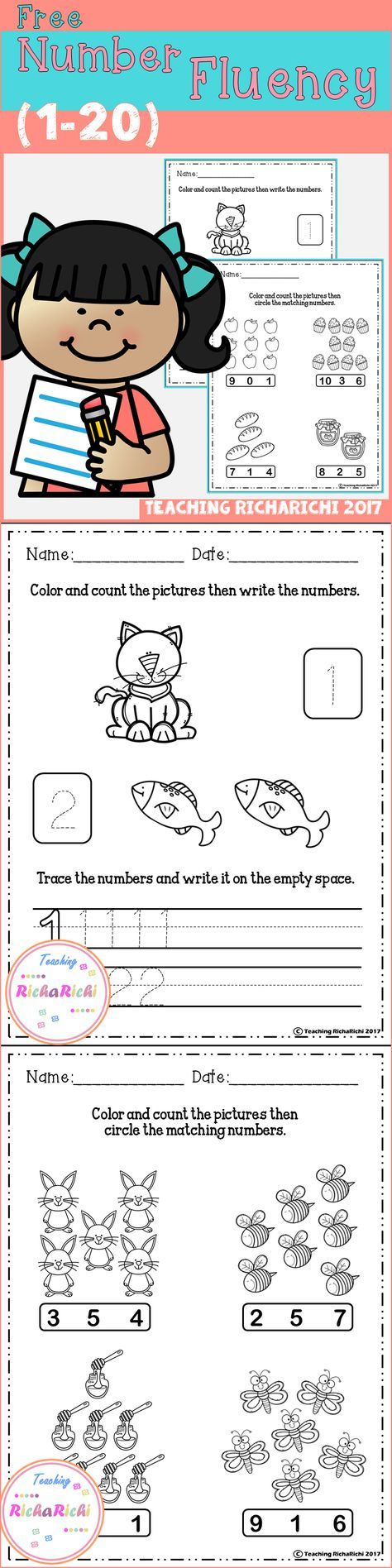 18 best Numbers 16-20 images on Pinterest | Math activities, Early ...
