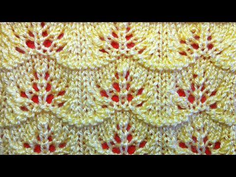 Ажурный узор спицами Видео урок вязания на спицах для начинающих. Openwork pattern knitting needles - YouTube