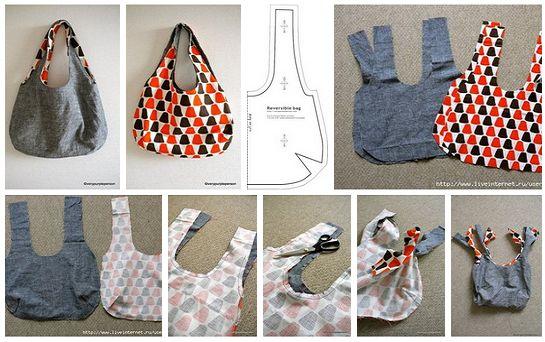 Como hacer un bolso con moldes