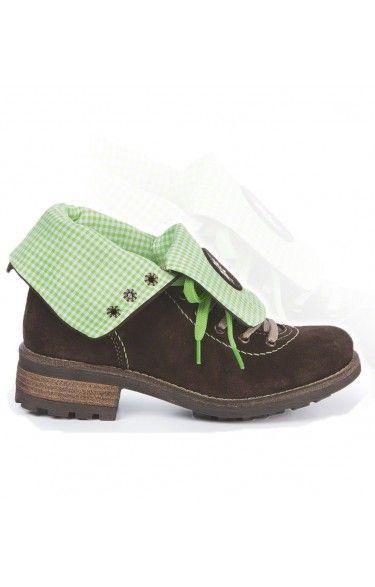 Trachten Stiefel Leinen/Leder - 3035 - apfel