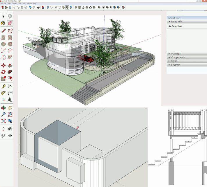 Make Interior Design Living Room Using Sketchup Di 2020 Dengan