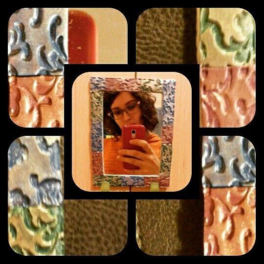 Specchio #salerenacrea #salerena #handmade #hechoamano #fattoamano #artigianale #artesanal #pastepolimeriche #polimerclay #arcillapolimerica #fimo #premo #bisuteria #jewelry #gioielli #bigiotteria #murrina #millefioricane #modellare #creazioni #creations #passion #art #freshpassion #youngartist #pretaporterart #chic #top #moda #accessori #accesorios #abalorios #monili #oggettistica #specchio #riflesso #texture #pigmenti #mirror #espejo #reflejos