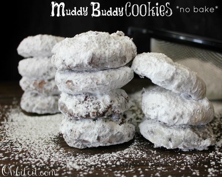 ~MUDDY BUDDY COOKIES {NO BAKE}!