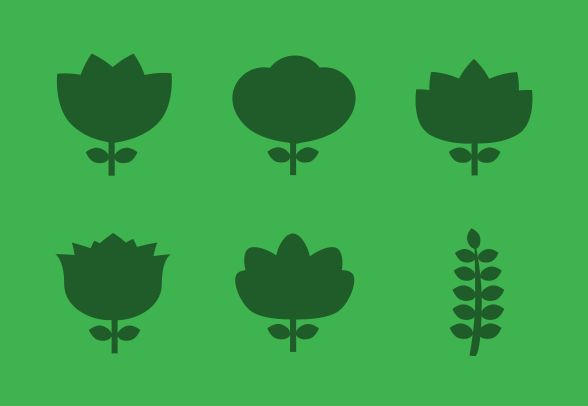 Download Flower Silhouette vector icons and more…