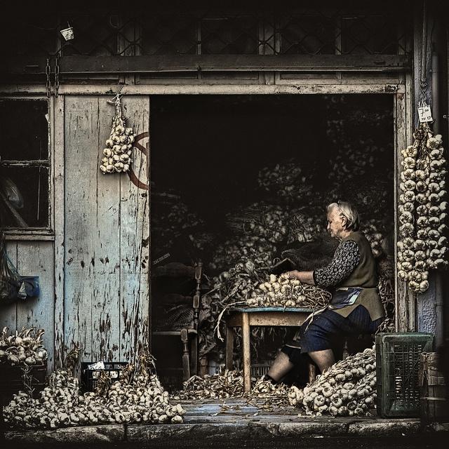 The Garlic Maker, Athens, Greece. Beautiful♥