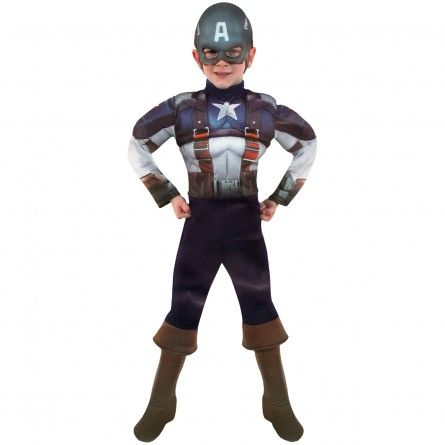 Child Muscles Captain America Costume
