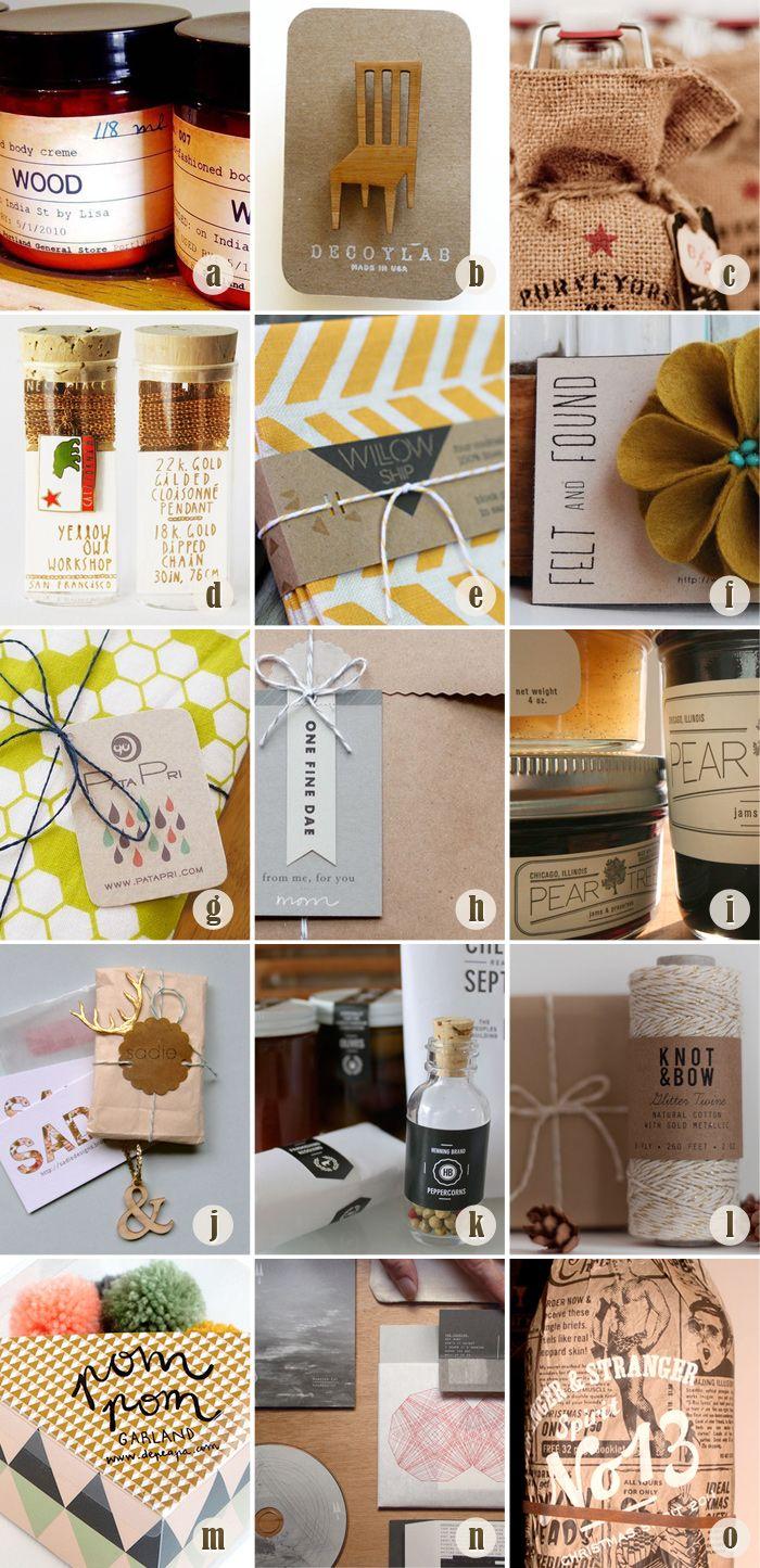 Handmade packaging.