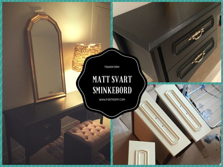 Sminkebord oppussing / Makeup table transformation/redo  jotun supreme finish black matt