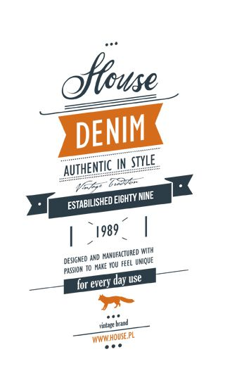 Denim Swing Tag & Label ///part B by Anna Maja Czech, via Behance