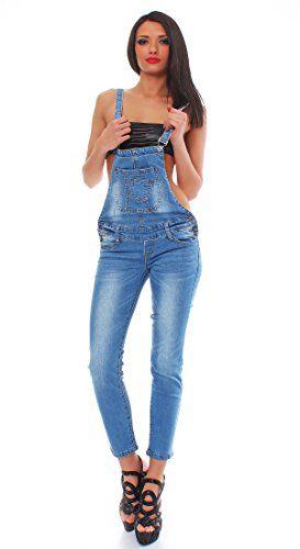 #10410 #Fashion4Young #Damen #Latzhose #Hose #pants mit #Träger #Röhren #Jeans #Overall #Jeanshose #Trägerhose 10410 Fashion4Young Damen Latzhose Hose pants mit Träger Röhren Jeans Overall Jeanshose Trägerhose, , (Achtung: die Größe fällt klein aus. Bitte eine Nummer größer bestellen.), Farbe    : Blau  Größe    : 5 Größen, Bundweite : bei Gr. M = ca 37 cm  ( einfach gemessen )  die Länge ist ca 137  cm mit Träger, Material : 95% Baumwolle , 5 % Elasthan, Relaxter Streetlook. Schmal…