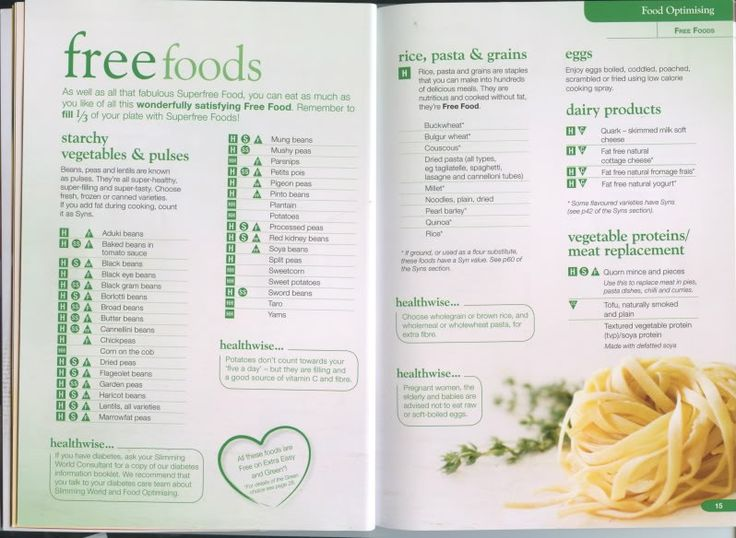 Slimming world food optimising book | healthy meals ...