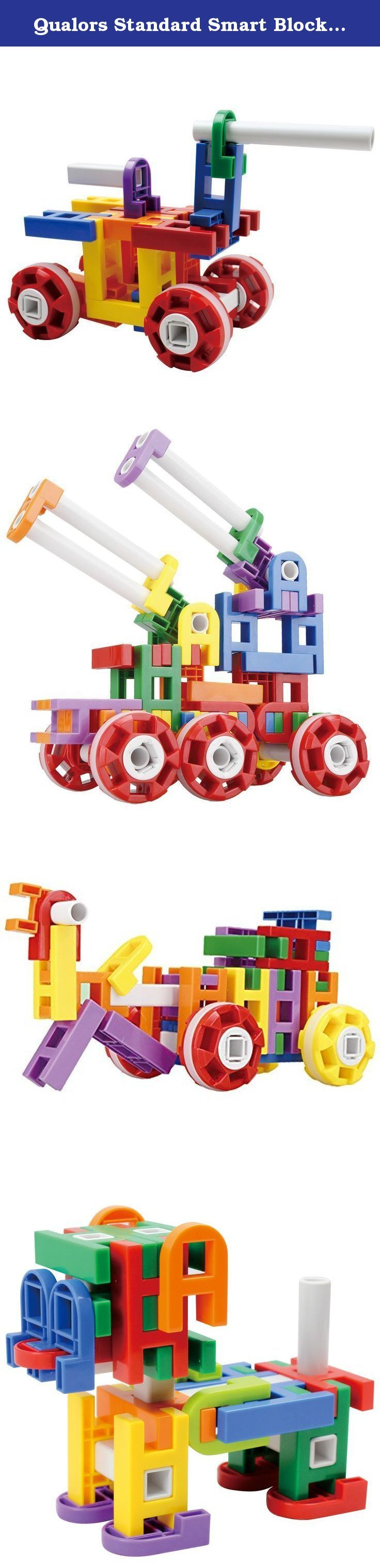 Qualors Standard Smart Blocks (Size:S) 42 Pieces Building Set with Idea Sheet (30+ Creations)   Interlocking Engineering Toys for Boys Girls   Fun Construction Blocks   Carefully Selected ABS Material. Build your Imagination with Qualors Standard Smart Blocks for Lil' Engineers! Available exclusively by Qualors Idea sheet included with many sample creations. Or imagine your own creation today! - Are your little ones becoming lazy and idle sitting in front of electronic devices for hours?…