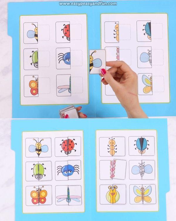 Bugs imprimibles que coinciden con el juego de carpetas de archivos