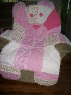 #teddy #bear #rag #quilt :)