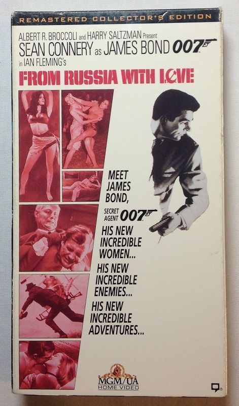 From Russia with Love (VHS, 1994) James Bone 007 / Sean Connery / Ian Fleming