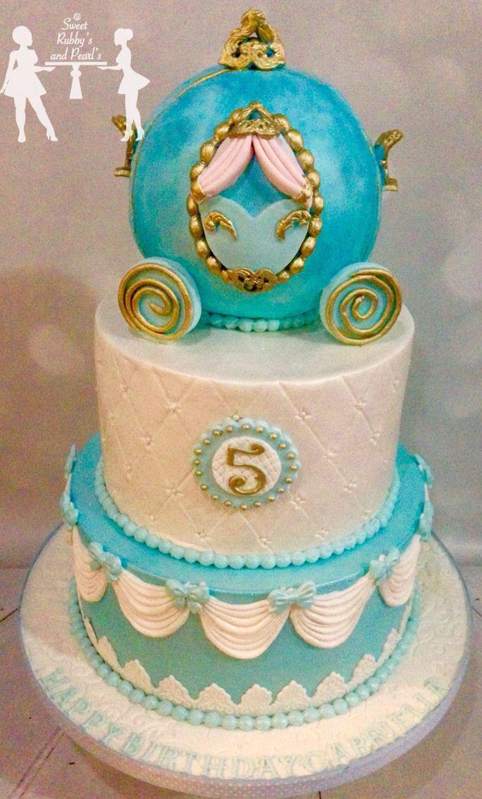 how to make a cinderella carriage cake