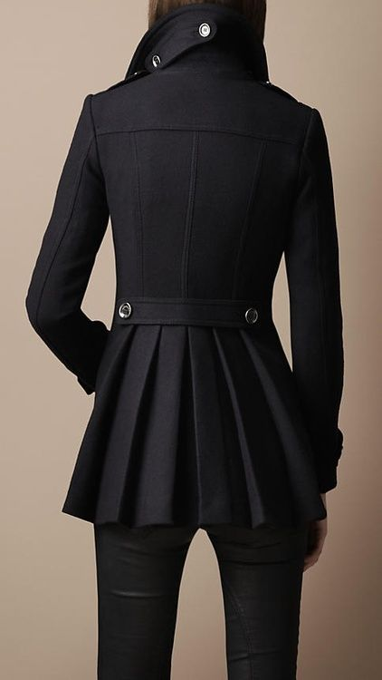 The Jacket: Black Coats, Fashion, Style, Military Coats, Outfit, Pleat Military