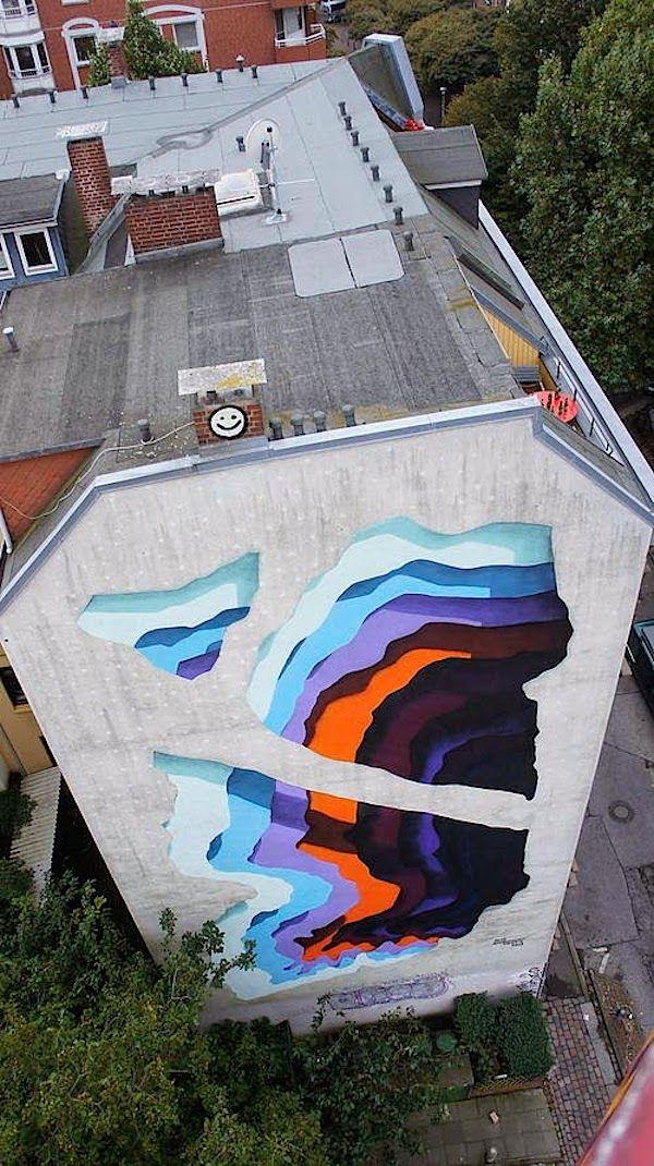 Streetart: New Mural by 1010 for Knotenpunkt Festival in Hamburg // Germany