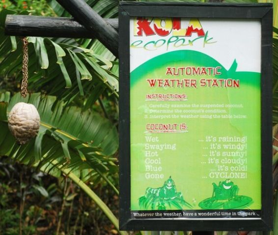 Weather Indicators from an 'Automatic Weather Station' - Fiji Style
