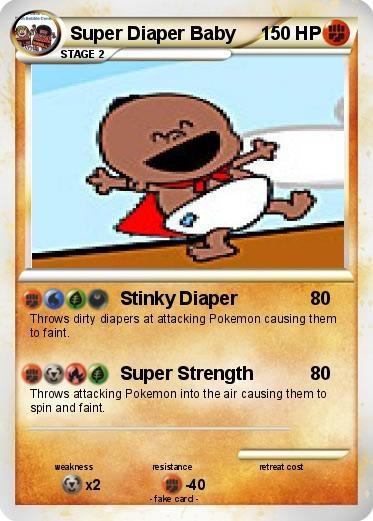 super diaper baby pokemon card