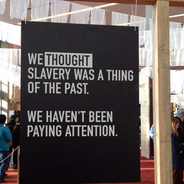 From Passion 2012. Human trafficking and modern day slavery is at an all time high.
