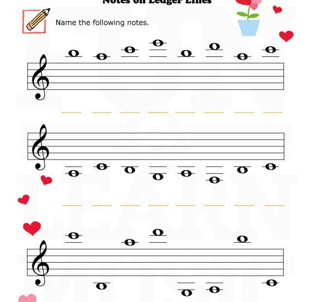 Music-Worksheets-Valentine-Notes-Ledger-Lines-002