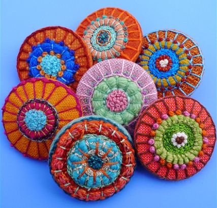 Artist: Birthine ~ Left a little speechless when I stumbled across these ... the bold colors ... the multitude of different stitches ... LOVE LOVE LOVE!
