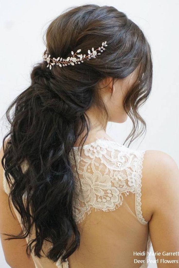 Prime 20 Half Up Half Down Marriage ceremony Hairstyles from Heidi Marie Garrett