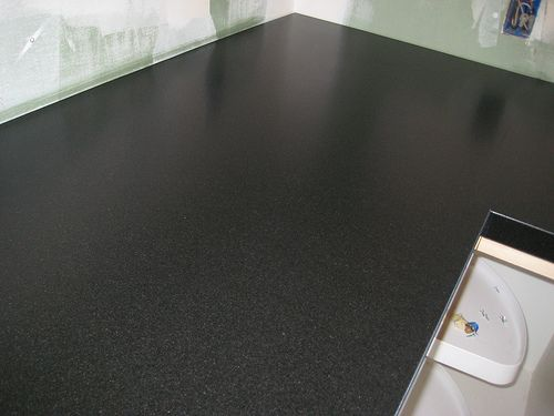 ... matte finish) I own this Pinterest Black granite, Countertops