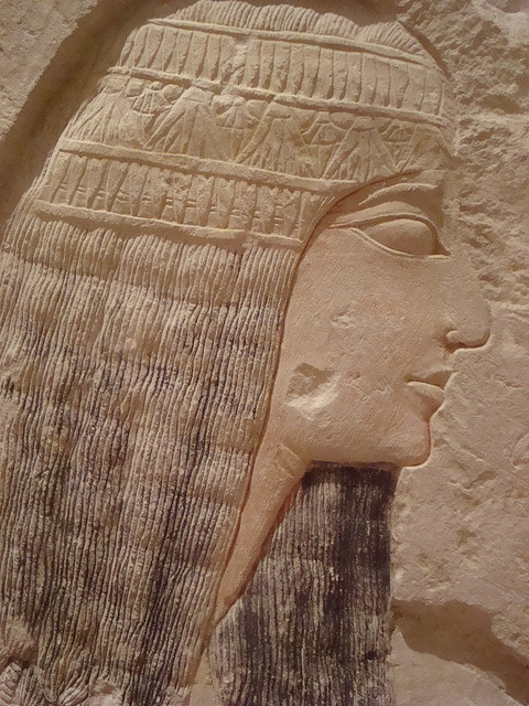 Relief of nobleman, Ramesside period, Ancient Egypt. Period under the Nineteenth and Twentieth Dynasties (1292–1069 BC) is also known as the Ramesside period.