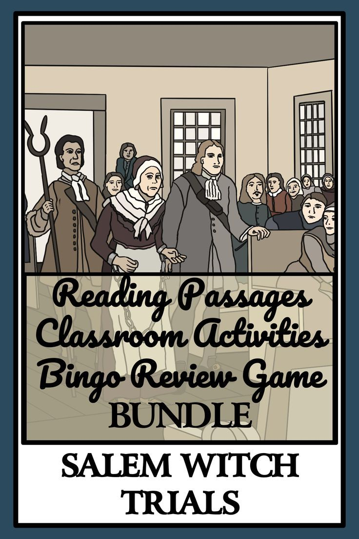 Your Students Will Enjoy The 11 Engaging Reading Passages About The Salem Witch Trials Reading Comprehension Reading Comprehension Activities Reading Passages