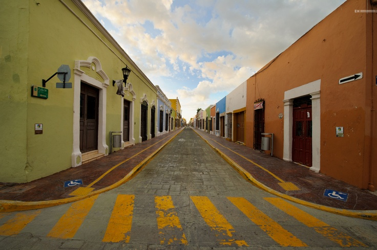 Campeche (Mexico).  'For a trip back in time, walk along the  streets of the walled colonial city of  Campeche and imagine the wave  of terror reigned down by the likes of  Hawkins, Barbillas and Pegleg himself.' http://www.lonelyplanet.com/mexico/yucatan-peninsula/campeche