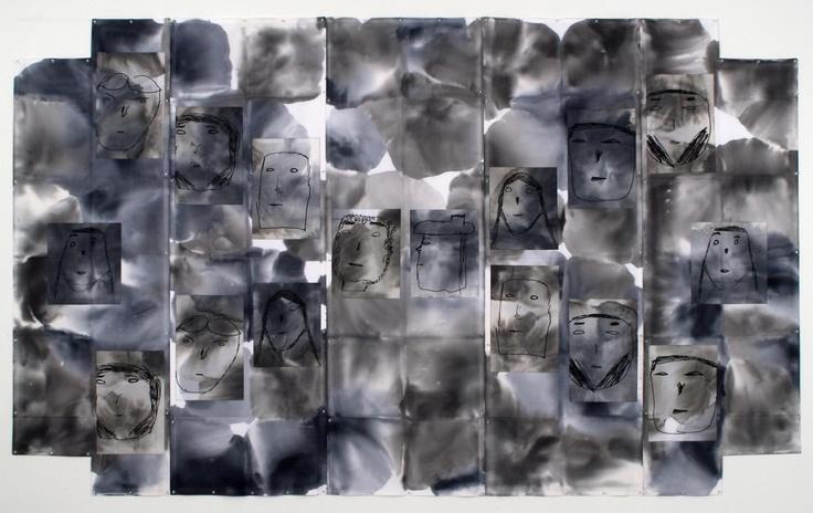 Eugenio Dittborn en la Alexander and Bonin Gallery, Chelsea, NYC