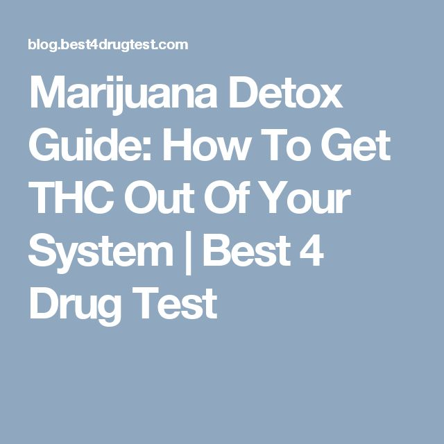 Marijuana Detox Guide: How To Get THC Out Of Your System | Best 4 Drug Test