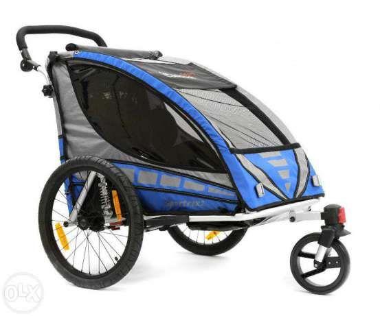 1 800 lei: Remorca de bicicleta Qeridoo Sportrex2  Calitate, stil si eleganta germana de la Qeridoo!  Qeridoo este pe departe cea mai vanduta marca de remorci de bicicleta in Germania, Polonia, Italia si Ola...