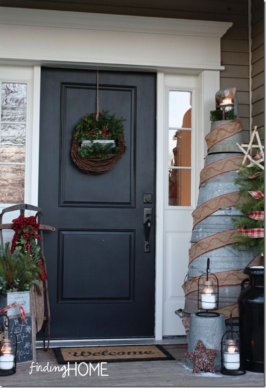 Galvanized Tub Christmas Tree from FindingHomeChristmasWelcome thumb