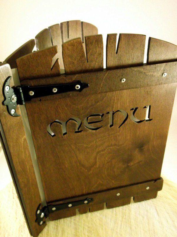 Holz Menu Design A4
