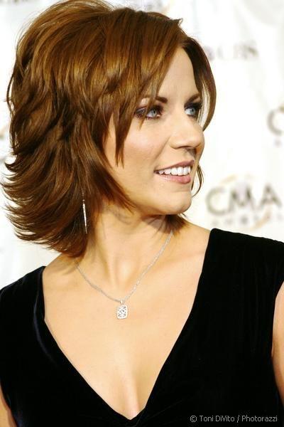 Martina McBride in Fun Casually Elegant Short Layered Hairstyle - Beautiful Hairstyles