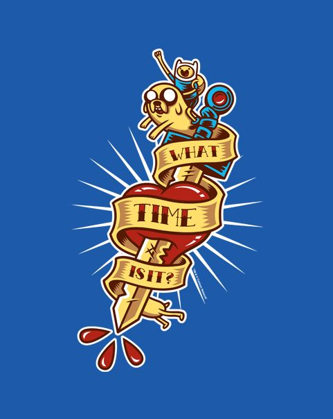 Adventure Tattoo T-Shirt | $10 Adventure Time tee from ShirtPunch today only!