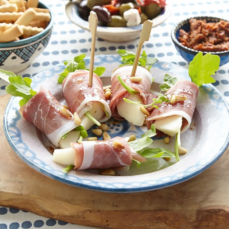 Ham-peerrolletjes met rucola