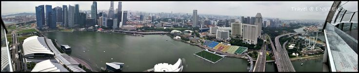 Panorama Singapore (Marina Bay Lotus), Singapore Flyer. From Skypark