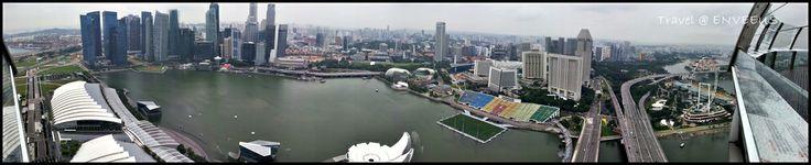 Panorama Singapore (Marina Bay Lotus), Singapore Flyer. From Skypark