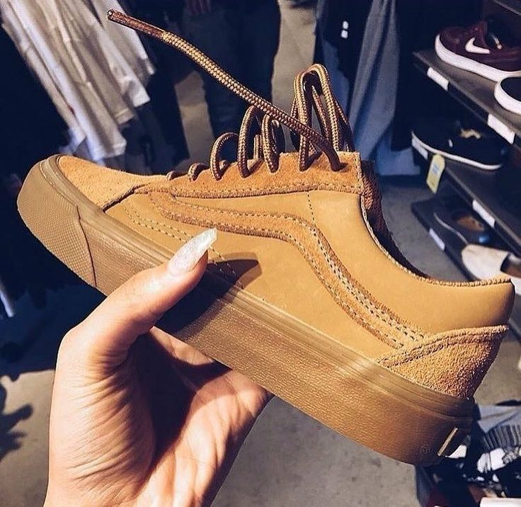 Cute camel (nude) color Vans that would look fly with an Instagram baddie look.