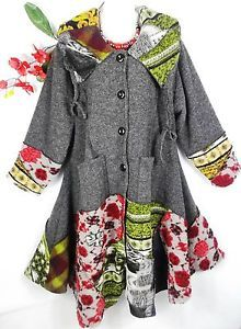 Sarah Santos Designer Mantel Wintermantel Jacke Patchwork Wolle XXL XXXL | eBay