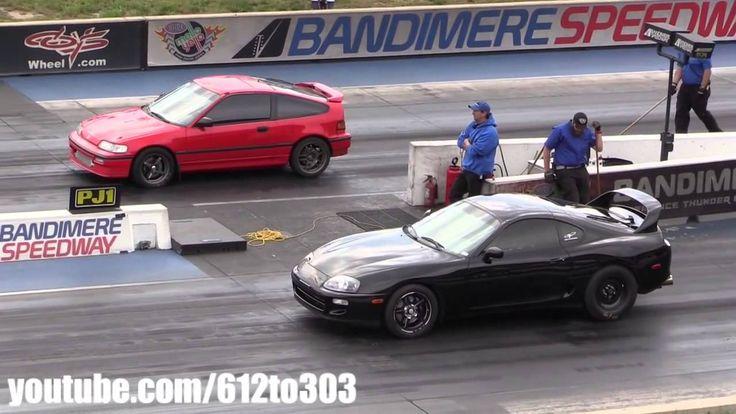 Драг Рейсинг Toyota Supra vs Honda CRX Drag Race