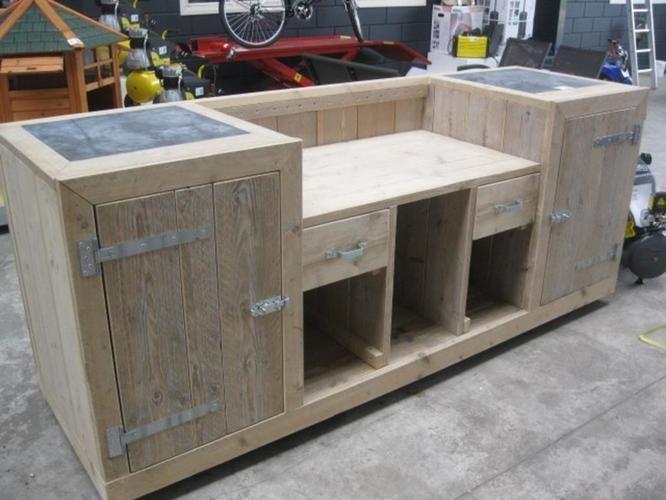 Afbeeldingsresultaat voor steigerhout barbecue meubel bouwtekening