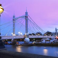 Fototapet - Albert Bridge London
