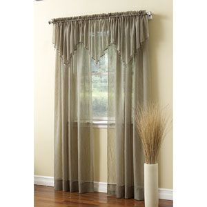 Erica Crushed Voile Ascot Valance- 51x24 | Boscov's $8